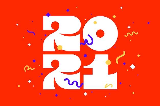 Gelukkig nieuwjaar. wenskaart met inscriptie happy new year.