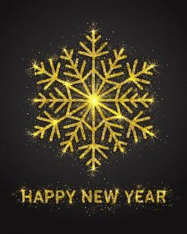 Gelukkig nieuwjaar wenskaart ontwerp
