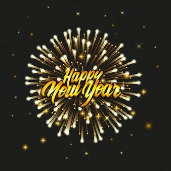 Gelukkig nieuwjaars goud