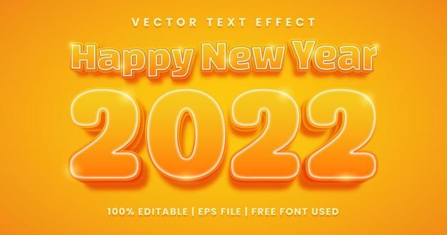 Gelukkig nieuwjaarstekst, bewerkbare teksteffectsjabloon in vetgedrukte stijl