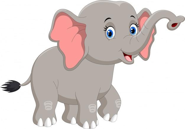 Gelukkig olifant cartoon