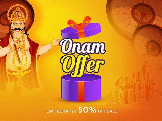 Gelukkig onam-verkoopaffiche of bannerontwerp