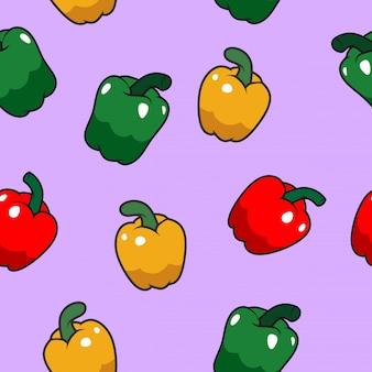 Gelukkig paprika naadloos patroon