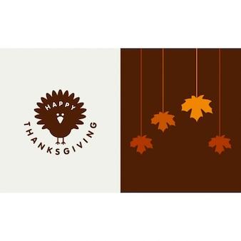 Gelukkig poster thanksgiving day typografische