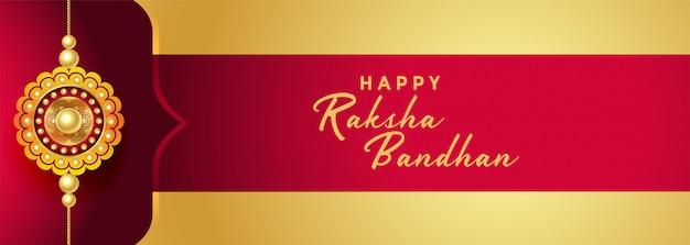 Gelukkig rakdha bandhan festival van broer en zus banner