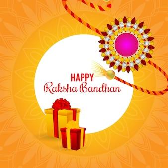 Gelukkig rakhi uitnodiging wenskaart invitation