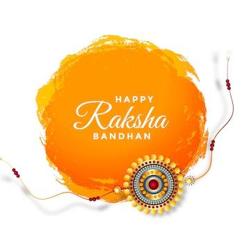 Gelukkig raksha bandhan festival begroeting achtergrond