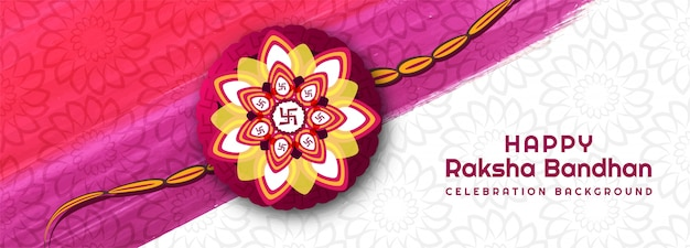 Gelukkig raksha bandhan festival creatieve banner