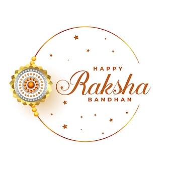 Gelukkig raksha bandhan festival groet ontwerp