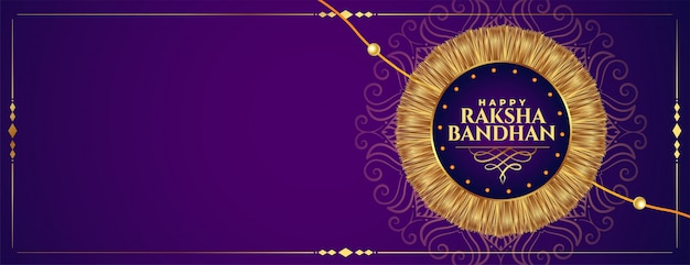 Gelukkig raksha bandhan gouden rakhi festival banner