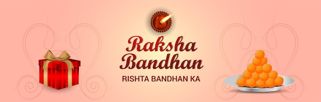 Gelukkig raksha bandhan indian festival viering banner celebration