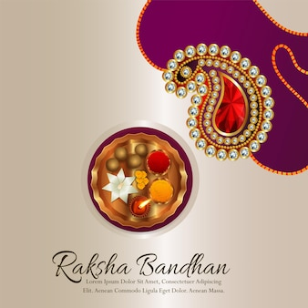 Gelukkig raksha bandhan viering wenskaart achtergrond
