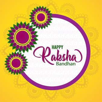 Gelukkig raksha bandhan viering wenskaart
