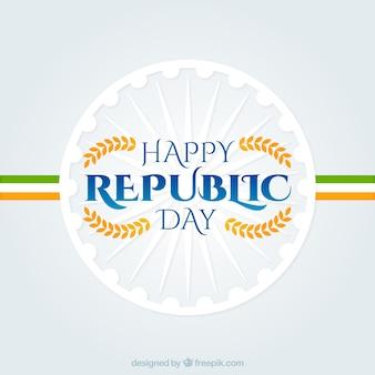 Gelukkig republiek dag witte achtergrond