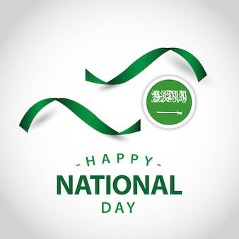 Gelukkig saoedi-arabië nationale dag vector sjabloonontwerp