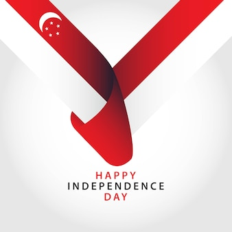 Gelukkig singapore independence day vector sjabloon