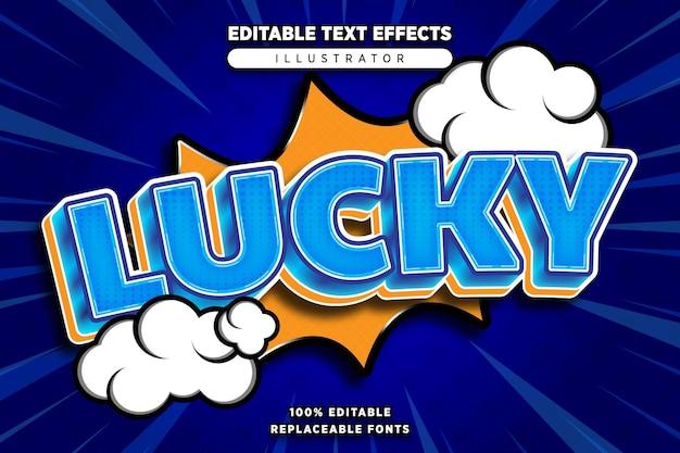 Gelukkig teksteffect bewerkbaar in komische stijl