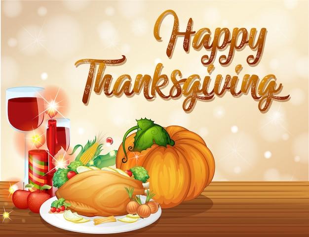 Gelukkig thanksgiving feest concept