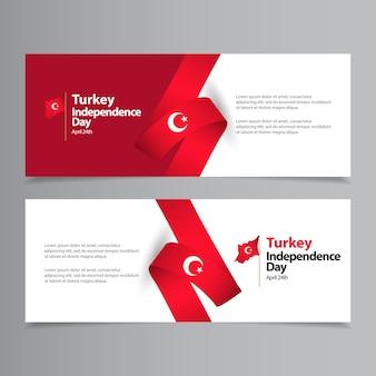 Gelukkig turkije onafhankelijkheidsdag viering sjabloon