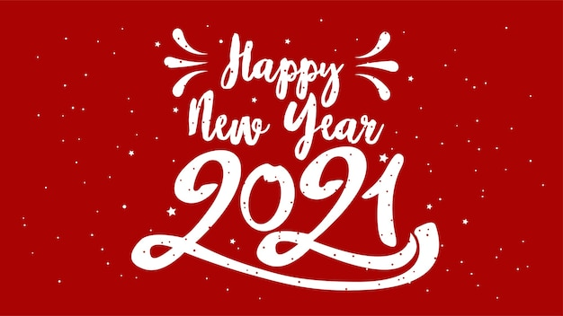 Gelukkig typografisch nieuwjaar. retro illustratie met belettering samenstelling en burst. vakantie vintage feestelijke label