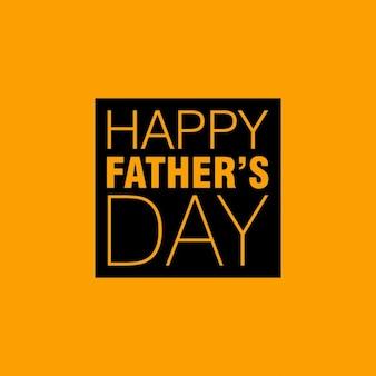 Gelukkig vaders dag gele achtergrond