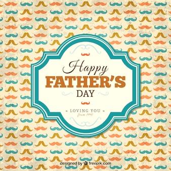 Gelukkig vaders dag kaart met snorren