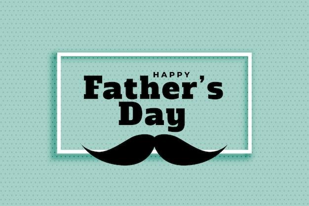 Gelukkig vaders dag ontwerp van de banner van de klassieke stijl