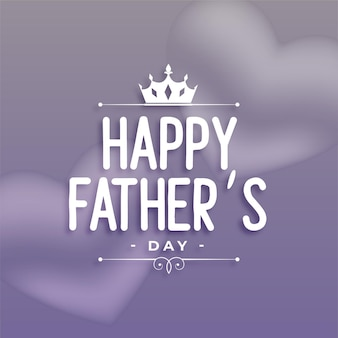 Gelukkig vaders dag wensen groet ontwerp