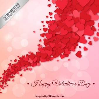 Gelukkig valentijnsdag achtergrond met rode harten