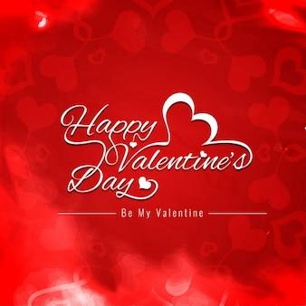 Gelukkig valentijnsdag rode kleur achtergrond