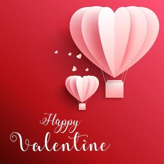 Gelukkig valentijnsdag wenskaart ontwerp