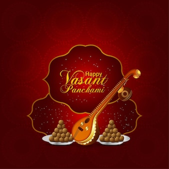 Gelukkig vasant panchami-feest