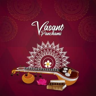 Gelukkig vasant panchami indian festival