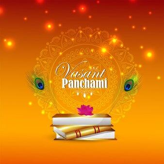 Gelukkig vasant panchami viering achtergrond