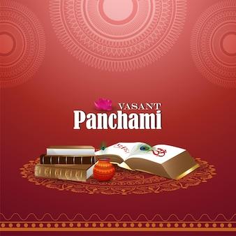 Gelukkig vasant panchami-wenskaart