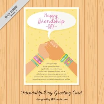 Gelukkig vriendschap dag brochure