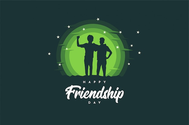 Gelukkig vriendschapsdag achtergrondontwerp