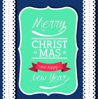 Gelukkig vrolijk kerstmisontwerp