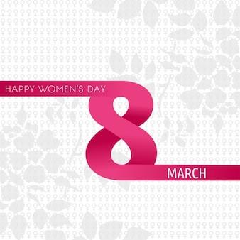Gelukkig vrouwen dag met creatieve 8 maart