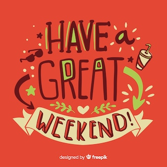 Gelukkig weekend belettering