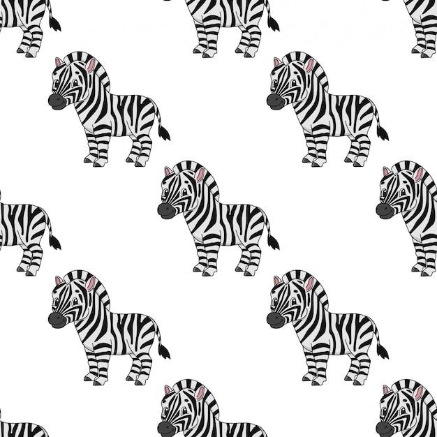 Gelukkig zebra naadloze patroon behang