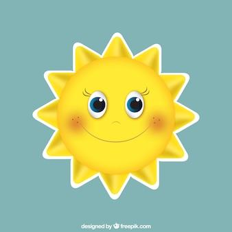 Gelukkig zon