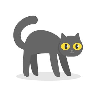 Gelukkig zwarte kat kitten