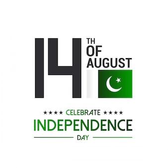 Gelukkige 14 augustus pakistan vlag.