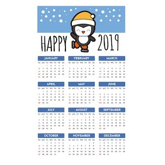 Gelukkige 2019 kalender