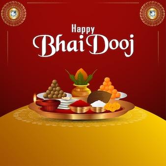 Gelukkige bhai dooj viering achtergrond