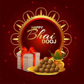 Gelukkige bhai dooj viering wenskaart