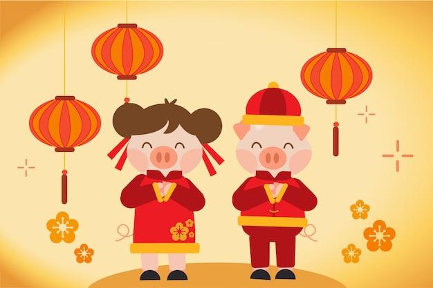 Gelukkige chinese nieuwe jaarkaart