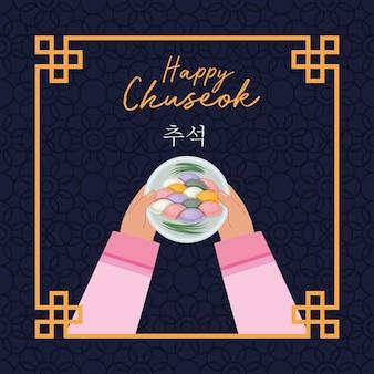 Gelukkige chuseok-kaart
