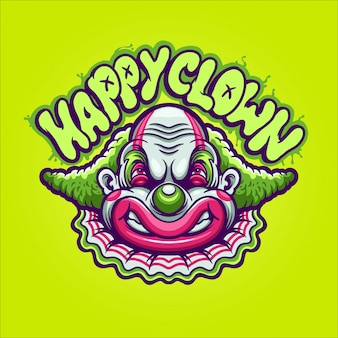 Gelukkige clownillustratie